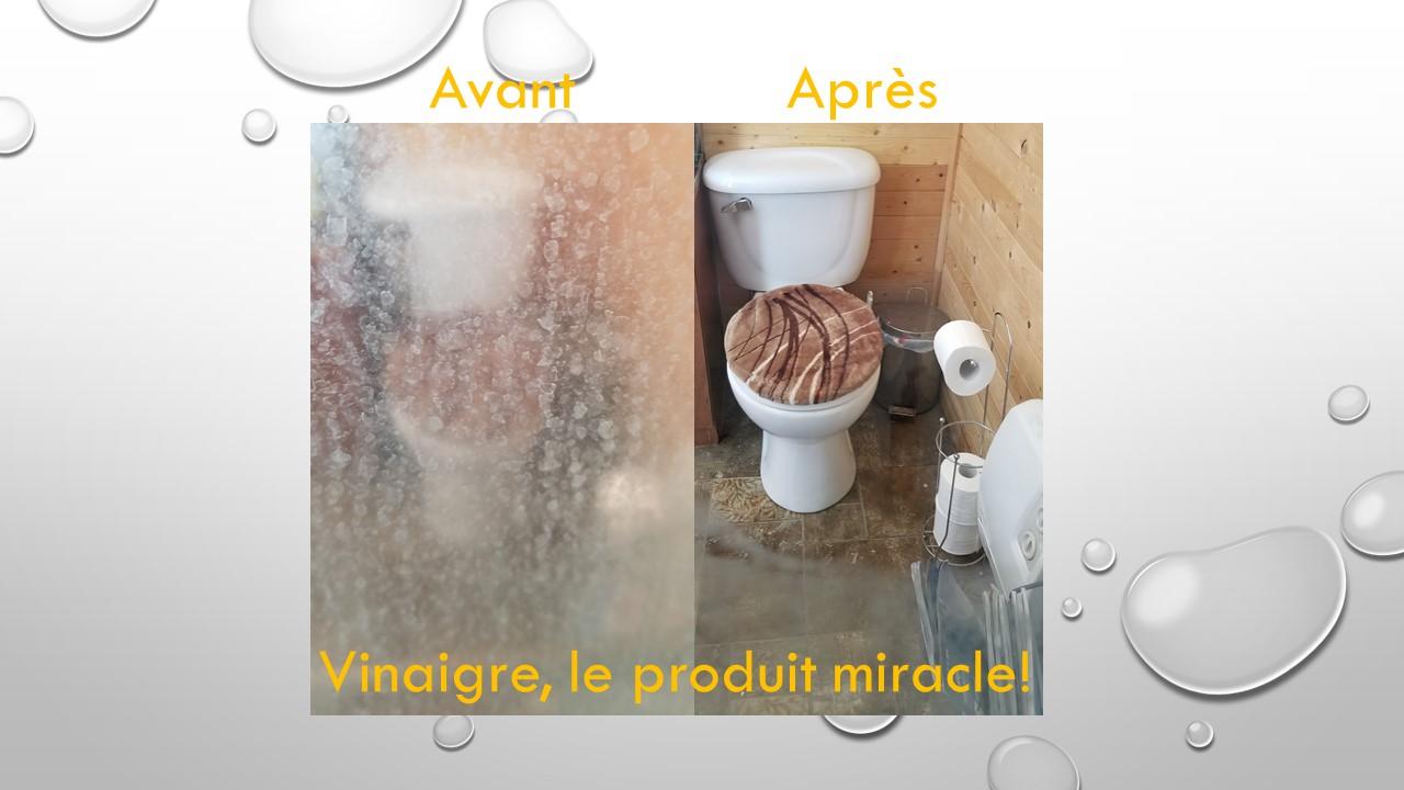 photo vinaigre salle de bain